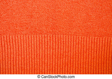 Orange sweater pattern detail background - Orange sweater...