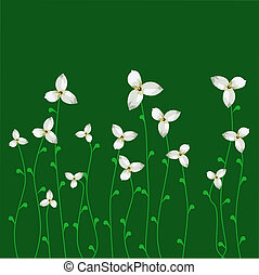 Spring flowers - Background with a spring flowers Vector...
