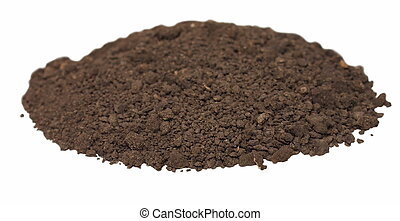 dirt isolated on white background