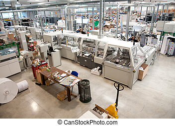 Printshop (press printing) - Finishing line - Post press...