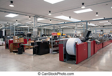 Printshop press printing - Finishing line - Post press...