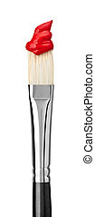 paint brush art and craft - close up of paint brushes on...