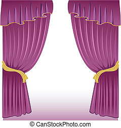 Curtain back - Vector illustration of Curtain back