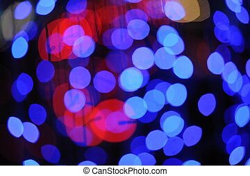 Abstract Christmas lights at Christmas night. - Abstract...