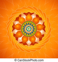 Magnetic Mandala - Mandala suggesting electric or magnetic...