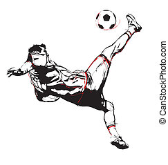 soccer player - illustration of soccer player