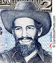 Camilo Cienfuegos 1932-1959 on 20 Pesos 2006 Banknote from...