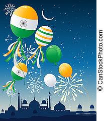 india flag balloons