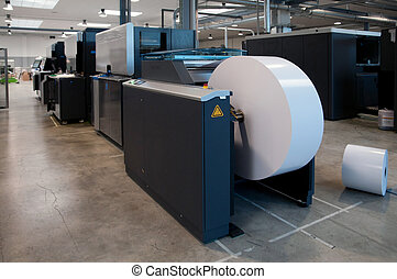 Printing machine: digital web press color Inkjet digital web...