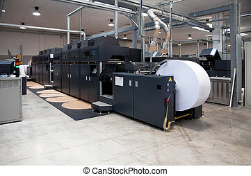 Printing machine: digital web press (color Inkjet digital...