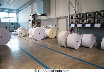 Paper roll for printing web machine - Paper roll for...