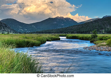 Beauty of Colorado - Creek near Cub Lake Trail, Rocky...