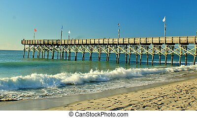 Pier - Long wooden pier jutting out into the sea