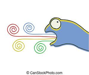 Color chameleon - Creative design of color chameleon