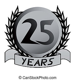 25 years emblem - Creative design of 25 years emblem