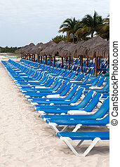 Playa del Carmen beach - Tropical beach scenics at Playa del...