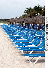 Playa del Carmen beach - Tropical beach scenics at Playa del...