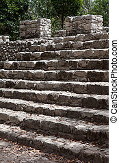 Ancient Mayan city of Coba - Ruins of the ancient Mayan city...