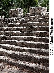 Ancient Mayan city of Coba - Ruins of the ancient Mayan city...