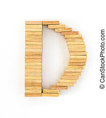 Wooden domino alphabet,D - english alphabet letters from...