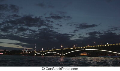 The Troitsky bridge in Saint Petersburg. - The Troitskiy...