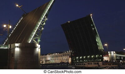 The Palace Bridge in Saint Petersburg. - The Palace Bridge...