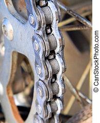 Dirt Bike Chain Close Up - Close up of a dirt bike chain
