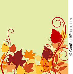 Autumnal background with colorful leaves