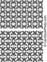 Two seamless patterns with butterflies
