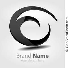 Brand black logo - Originally designed vector brand black...