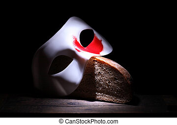 Bread And Circuses - Roman Empire concept White mask with...