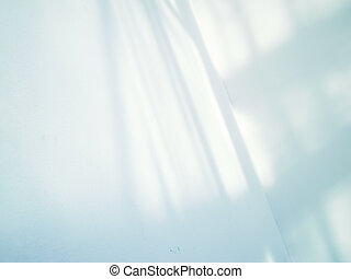 Artistic style-shadow and lighting on white wall abstract background