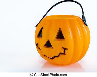Jack-o'-lantern - Halloween bag in shape of Jack-o'-lantern...