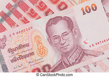 Hundred thai baht - Close-up of hundred thai baht