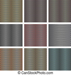 Set of seamless metal backgrounds