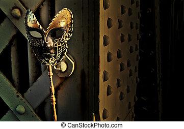 Masquerade - Venetian Mask on Vintage Bridge
