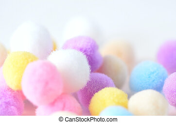 Colorful fluff balls - This is a picture of colorful lovely...