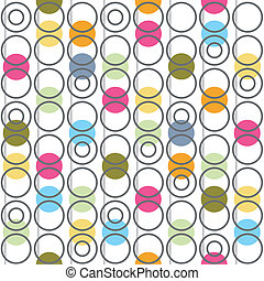 Background with circles. Vector illustration.