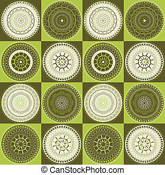 Delicate pattern with circles