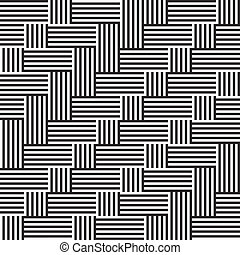 Pattern with stripe black and white