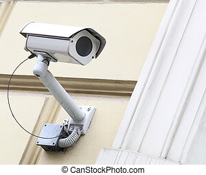 security camera  - The old security camera on the wall