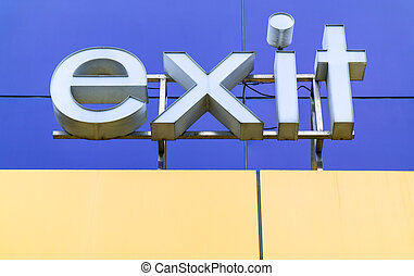 exit sign word in   english
