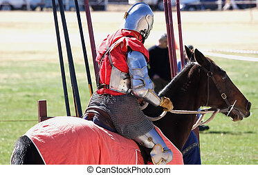 Mounted Knight - Knight on his horse near the jousting...