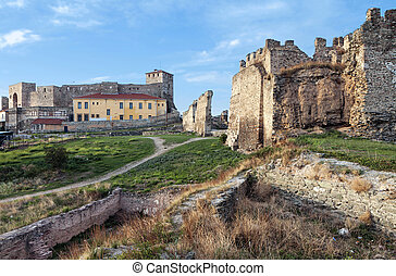 Castle at Thessaloniki in Greece - Genti Koule medieval...