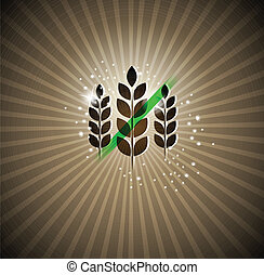 Gluten free sign on a bright background. Can be used for...