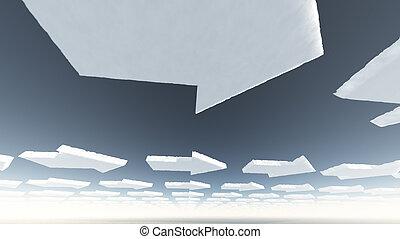 Arrow clouds