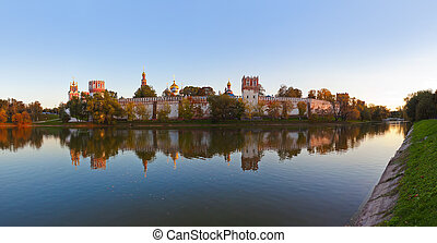 Panorama of Novodevichiy convent in Moscow Russia -...