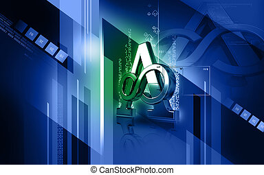 atheist symbol - Digital illustration of atheist symbol in...