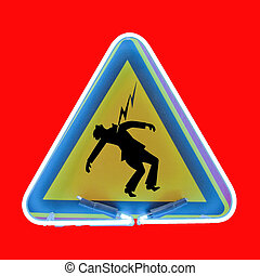 danger sign electrical