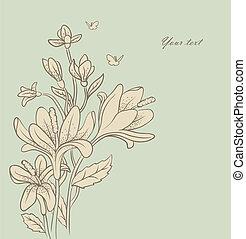 Floral backgrond - Vector illustration of floral backgrond